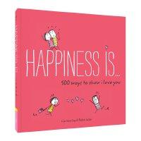 【现货】英文原版 幸福是…系列治愈漫画 我爱你的500种方式 Happiness Is . . . 500 Ways