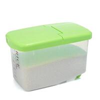 9kg家用带轮翻盖式塑料透明米桶 储米箱 厨房储物密封防虫储米箱厨房杂粮收纳面粉桶