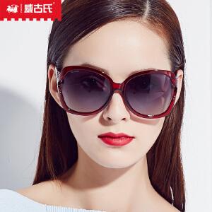 威古氏新款太阳镜女 镂空复古墨镜时尚女潮偏光太阳镜9082