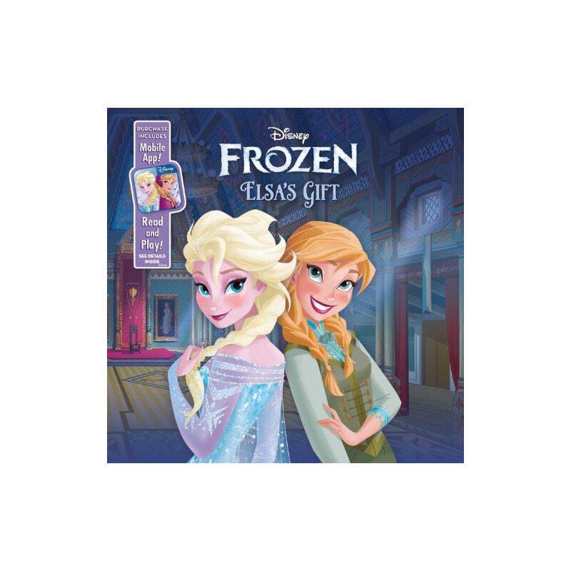 【现货】英文原版 迪斯尼冰雪奇缘:艾莎的礼物 Elsa's Gift: Purchase Includes Mobile App! for iPhone & iPad 24页大开本木板书 国营进口!品质保证!