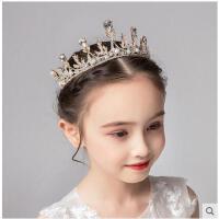 女童王冠水晶大�l箍粉色�Y服配�小朋友生日�l��和�皇冠�^�公主