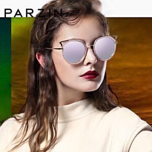帕森偏光太阳镜 明星宋佳同款 女士猫眼大框时尚潮墨镜 9877