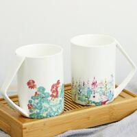 【包邮】创意骨瓷水杯大容量咖啡杯清新简约杯子陶瓷复古文艺马克杯文创艺术衍生品
