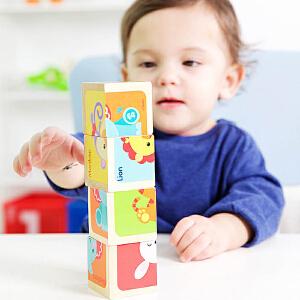 【当当自营】费雪 Fisher Price  益智六面画  四个大方块六种动物图案周岁宝宝生日礼物 FP1001B