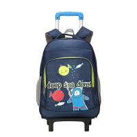 【爆款直降】卡拉羊拉杆书包 小学生书包男女儿童书包1-3-6年级减负背包大容量拉杆包CX8607