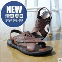 Afs Jeep/战地吉普男凉鞋真皮沙滩鞋 透气男鞋凉拖鞋韩版凉鞋30326