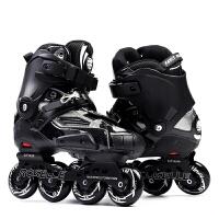轮滑鞋直排轮花式平花鞋速滑刹车男女软面鞋HV溜冰鞋