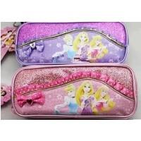 (支持货到付款)正品联众迪士尼 公主新款多层化妆包/笔袋P6655 收纳袋 铅笔袋