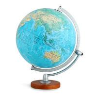博目地球仪:30cm中英文地形政区双画面地球仪(LED感应灯光型)3006 9787503039089 北京博目地图制