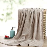 竹纤维浴巾女男比纯棉吸水家用不掉毛竹千维竹炭裕巾毛巾浴巾夏季 150x70cm