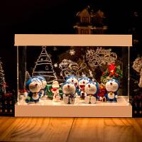 哆啦A梦手办 机器猫 叮当猫公仔圣诞节场景模型摆件节日礼物