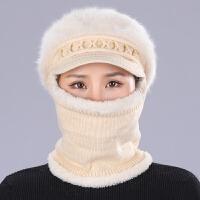 【帽子围脖一体】冬季天女士毛线帽针织保暖帽护耳女加厚东北 56-62头围【围脖帽子一体】