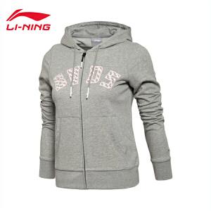 李宁卫衣女士篮球系列秋季开衫长袖外套连帽运动服AWDL284