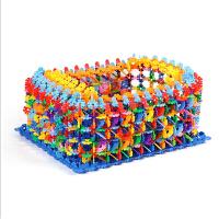 大号加厚桶装塑料雪花片 儿童益智玩具拼插积木 1-3-6周岁男女孩