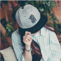 帽子 嘻哈帽 棒球帽 韩版帽子女嘻哈街舞棒球帽刺绣字母平沿帽男士户外休闲遮阳帽
