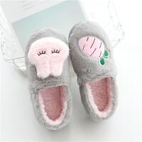 月子鞋秋冬季包跟软底棉拖鞋孕妇产后室内厚底保暖居家鞋秋冬托鞋