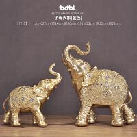 创意家居象摆件装饰品幸福小象大象客厅书房象牙摆件工艺品