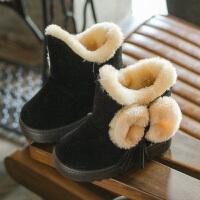 2-3-4-5岁季儿童雪地靴短靴女宝宝靴子小孩保暖棉鞋韩版女童鞋6