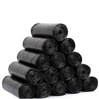 普润(PU RUN) 30卷装黑色垃圾袋 一次性环保袋 点断连卷垃圾袋卫生间塑料袋一次性点断式拉圾袋