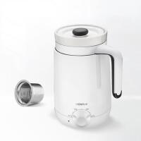 迷你办公室热牛奶煮粥杯电炖杯养生杯陶瓷电热水杯 白色