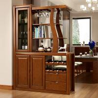客厅隔断柜子实木进门玄关柜酒柜双面 中式间厅柜 门厅柜鞋柜屏风 组装