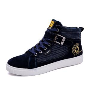 秋冬季新款男鞋帆布鞋男高帮帆布鞋男学生板鞋布鞋男青年韩版潮鞋球鞋运动鞋