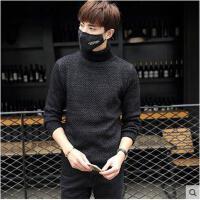 新款韩版时尚高领时尚男士毛衣韩版修身针织衫薄外套男装上衣潮
