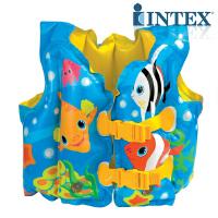 INTEX趣味鱼背心59661 儿童救生衣游泳背心 宝宝游泳衣游泳背心
