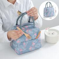 加厚铝箔保温袋便当袋帆布大号带饭的手提袋手拎防水饭盒袋保温包带饭菜的便当包保暖冷藏上班手提袋