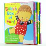 凯伦・卡茨 Karen Katz3本纸板翻翻书box3 baby's box of fun