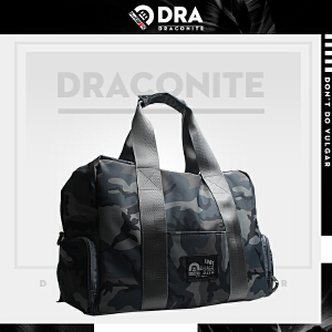 DRACONITE潮牌男迷彩手提包单肩包大容量斜挎包旅行包军旅包
