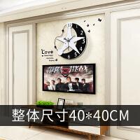 钟表挂钟客厅创意个性大气时尚挂表现代简约家用卧室装饰时钟挂墙 16英寸