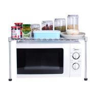 厨房微波炉置物架单层1层架子烤箱架台面锅架调料架碗架肉肉架