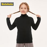 巴拉巴拉童装儿童毛衣针织2019新款秋冬中大童女童时尚高领洋气女