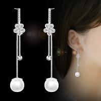 耳针韩版时尚耳环优雅仿珍珠吊坠日韩气质耳饰