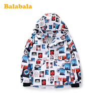 巴拉巴拉童装儿童外套男童上衣2020新款春装连帽印花外衣加绒保暖