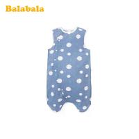 巴拉巴拉婴儿睡袋宝宝防踢被新生儿宝宝被子2020新款分腿式纯棉薄