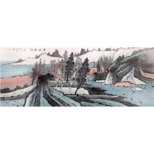 刘明磊《山水30》著名画家