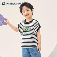 迷你巴拉巴拉男童背心2021年夏季新款童装潮纯棉背心T恤儿童背心