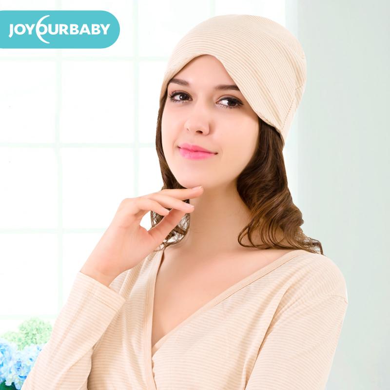 佳韵宝 孕妇产妇帽产后月子帽秋冬帽子彩棉纯棉春秋季坐月子用品