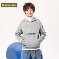 【1.27超品 2件5折:60】巴拉巴拉�和�加�q�l衣男童秋冬中大童上衣�B帽�r尚保暖潮