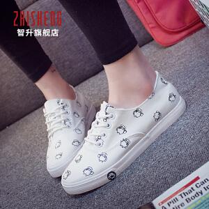 【清仓特价】2018春款小白鞋女卡通款帆布鞋平底板鞋韩版学生布鞋休闲鞋卡通球鞋