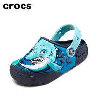 Crocs洞洞鞋23/24/25/26码 204133 趣味学院酷闪小克骆格
