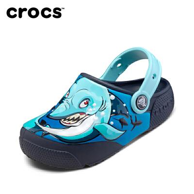 【2双3折】Crocs洞洞鞋23/24/25/26码 204133 趣味学院酷闪小克骆格 crocs双十一大促