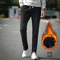 春夏季薄款宽松男士裤男直筒卫裤针织大码休闲长裤子