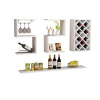 创意欧式酒柜现代简约客厅展示柜墙上酒架置物架餐边柜菱形红酒格