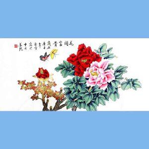 北京著名工笔画家,北京市美协会员,北京九久书画收藏文化交流中心画家凌雪(花开富贵)5