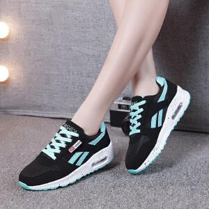 新款网面气垫鞋女鞋韩版运动休闲旅游鞋透气轻便跑步女单鞋