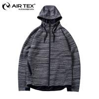 【满300元减100元】AIRTEX亚特户外秋冬季防风男士弹力开衫针织外套保暖夹克