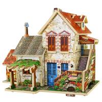 3d立体拼图木质木制儿童玩具成人世界风情建筑